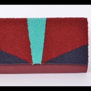 Textured Colored Block Envelope clutch, Purse.